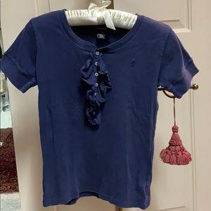 Ralph Lauren distressed T-shirt with ruffles